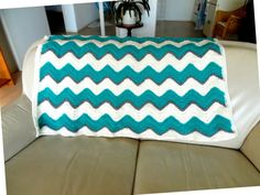 Crochet Afghan, chevron throw, Crocheted Throw, Made to Order, lap blanket, couch blanket, crochet lap afghan