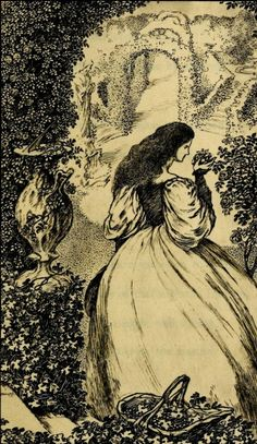 From 'The Sensitive Plant' by Percy Bysshe Shelley. Illustrations by Laurence Housman.1899