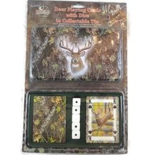 2-Pack Mossy Oak Camo Cards And Dice Gift Tin Rivers Edge Products  #RiversEdgeProducts
