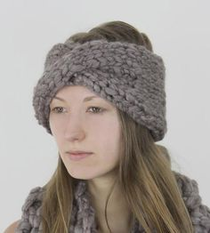 Taupe Knit Earwarmer by Claire Verity on Scoutmob Shoppe