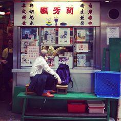 Milk tea bar at graham street market. #HongKong