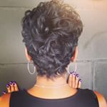 Classic Cut ✂ And Color Styled By Greens Blackhairstyles - Hair Beauty - Marecipe Short Hair Back, Short Sassy Hair, Short Hair Cuts, Curly Hair Specialist, Curly Hair Styles, Natural Hair Styles, Pelo Pixie, Hair Essentials, Beautiful Haircuts
