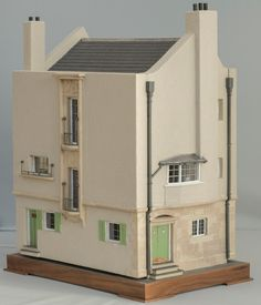 Charles Rennie Mackintosh Replica Dollhouse made by Chris and Joan Rouch of Toptoise Design in Selkirk, Scotland