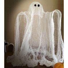 Easy DIY Halloween Cheesecloth Ghost