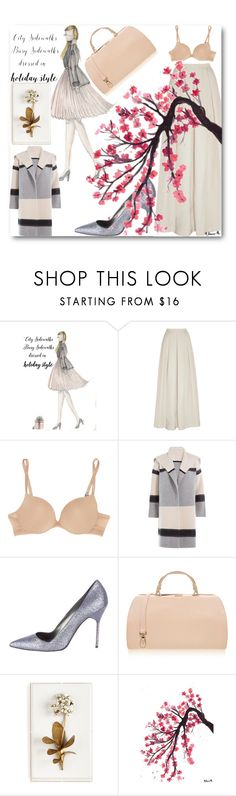 """Girly #3"" by fashion-choice ❤ liked on Polyvore featuring Jenny Packham, Calvin Klein Underwear, Vince, Manolo Blahnik, Furla and Tommy Mitchell"