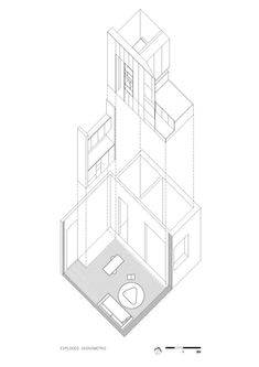 10 Tiny Apartments Under 38 Square Meters and Their Axonometric Drawings,Cortesía de Brad Swartz Architect Studio Apartment Layout, Small Apartment Design, Agi Architects, Axonometric Drawing, Tiny Apartments, Apartment Plans, Condo Living, Small House Plans, Open Plan Living