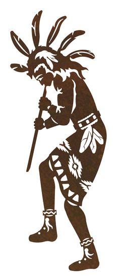 Flute Player 1 Kokopelli Steel Wall Art by CabinExclusive Kokopelli Tattoo, Native Tattoos, Tribal Tattoos, Stencil Art, Stencils, Native American Symbols, Larp, Arte Tribal, Wood Burning Art