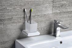 FLORI držák kartáčků, bílá mat/sklo satin : SAPHO E-shop Bathroom Accessories, Flora, Sink, Retro, Inspiration, Home Decor, Bamboo, Sink Tops, Biblical Inspiration