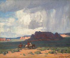 Desert Rain Painting by Edgar Payne