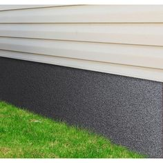 24 in. x 50 ft. Fiberglass Reinforced Plastic Foundation Protection - The Home Depot Mobile Home Exteriors, Mobile Home Renovations, Remodeling Mobile Homes, Home Upgrades, Mobile Home Skirting, House Skirting, Painted Foundation, House Foundation, Manufactured Home Remodel
