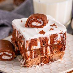 9x13 Baking Dish, Glass Baking Dish, No Bake Desserts, Dessert Recipes, Delicious Desserts, Lush Cake, Swiss Cake, No Bake Cherry Cheesecake, Chocolate Chip Banana Bread