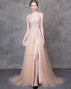 4ef77ac876f416 Long A Line Backless Summer Evening Dresses Sequin See Through Prom Dresses  Sexy Sparkly