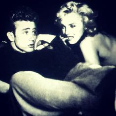 "James Dean and Marilyn Monroe where never photographed together . They briefly were contracted to make the film ""Human Bondage"" however Dean was killed ."