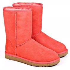 UGG® Red Classic Short Women's Flat Boot - Stylemetv.com ❤ liked on Polyvore
