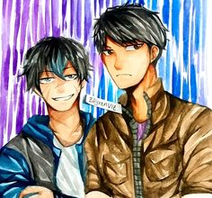 Ein and Zach (Aph's Father) Here some fanart of my fav villain so far. For me they pretty cool and badass V Aphmau Ein, Aphmau Youtube, Aphmau And Aaron, Zane Chan, Vanoss Crew, Aphmau Fan Art, Anime, Pretty Cool, All Art
