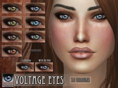 Voltage Eyes for The Sims 4  Found in TSR Category 'Sims 4 Female Costume Makeup'