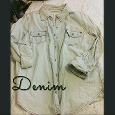 Denim button top Brand new. Tops