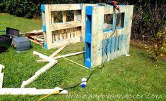 speelhuisje van pallets maken