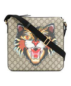 Gucci Men's Beige Leather Messenger Bag In Brown Designer Handbags Uk, Gucci Handbags, Handbags On Sale, Luxury Handbags, Gucci Bags, Miu Miu, Gucci Men, Gucci Gucci, Mens Leather Laptop Bag