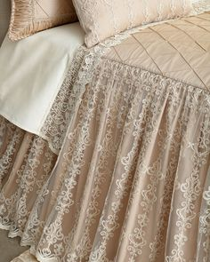 Shop King Elizabeth Skirted Coverlet from Sweet Dreams at Horchow, where you'll find new lower shipping on hundreds of home furnishings and gifts. Stylish Bedroom, Shabby Chic Bedrooms, Bedroom Vintage, Cozy Bedroom, Bedroom Decor, Bedroom Ideas, Master Bedroom, Vintage Bedding, Romantic Bedrooms