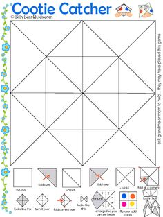 Fortune Teller Template fun for vocabulary practice. My students make these anyway, so why not use them for vocab?