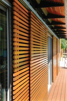 Slideshow: True Blu Homes - South Sound Magazine - True Blu – Inside Our Vashon Island Northwest Idea House Outdoor Shutters, Window Shutters, Outdoor Blinds, Vashon Island, Casas Containers, Prefabricated Houses, Home Technology, Robot Technology, Backyard