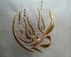 Neşe'nin gözdeleri Gold Embroidery, Gold Work, Needlework, Elsa, Diy And Crafts, Brooch, Sewing, Jewelry, Barbell