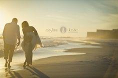 Modern Orange and White Styled Wedding Shoot     Aislinn Kate Photography     Fiesta Wedding     Destin     Bride and Groom on Beach     Beach portraits     Sunset