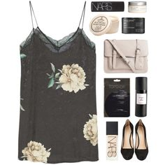 I like the way most of the days are exactly the same by amazing-abby on Polyvore featuring moda, MANGO, CÉLINE, Pieces, NARS Cosmetics, D.R. Harris & Co Ltd., Eight & Bob, H&M and Living Proof