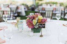 Table Name...  Colorful Wedding Centerpieces