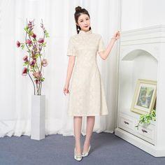 Cozy Lady WearQipao   Cheongsam · New-Arrival-Girl-Lace-Cheongsam-Sexy -Sweet-Printed- ccb69d63ed5f