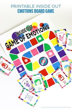 Printable Inside Out Emotions Board Game. Fun follow up to the movie and a playful way to talk about emotions.