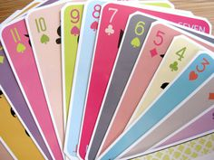 Colorful modern playing cards