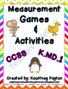 Measurement Games & Activities K.MD.1 product from MrsPayton on TeachersNotebook.com