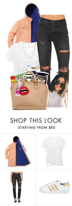 """""""I Am A Champ"""" by denise-loveable-bray ❤ liked on Polyvore featuring Champion, Anine Bing, GRLFRND and adidas"""