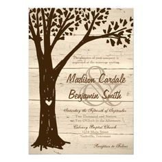 Save big on your oak tree wedding invitations ~ We have plenty of other wonderful country wedding invitations like #rusticwedding, #country and #oaktree invitations.