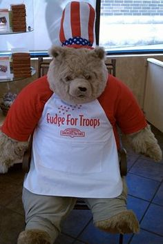 Fudge for Troops is here again! July 1-31 visit Rocky Mountain Chocolate Factory and ask how you can donate fudge to our troops overseas! #fudgefortroops