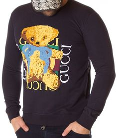Gucci Bluza Cute Bear - Bleumarin | Bluze | Bluze | Brande Cute Bears, Hoodies, Sweatshirts, Gucci, Graphic Sweatshirt, Sweaters, Fashion, Moda, Fashion Styles
