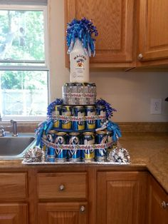 Beer cake..  Replace miller with bud, and Malibu with Woodford>>