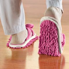 Funny Cleaning Mop slipper shoes - $9.72