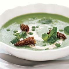 Garden Pea Soup with Morel Cream | Food & Wine