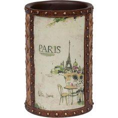 I love Paris Shower Curtain and Bath Accessories by Creative Bath - Townhouse Linens Beautiful Paris, I Love Paris, Cottage Bathroom Inspiration, Vintage Steamer Trunk, Paris Bathroom, Paris Kitchen, Diy Bathtub, Heart Place