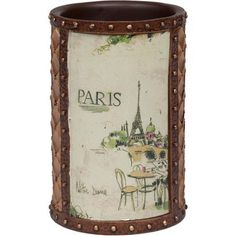 I love Paris Shower Curtain and Bath Accessories by Creative Bath - Townhouse Linens
