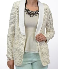 Top Shop Lace And Nicely Tailored Jacket Designed With Front Pockets