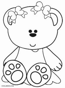 Teddy Bear Heart Coloring Page Color Pages Heart