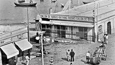 Baños de Ruiz.Entrada al muelle Santa Cruz.año 1900