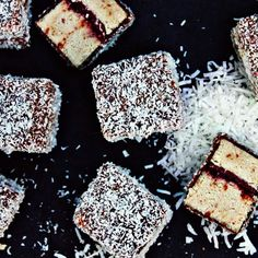 """For everyone who wanted the recipe for Raw Lamingtons - here we go! Big thanks to @rawlishious ⭐️ Sponge: 2 cup almond meal, 1 cup coconut flour, 1 cup…"""