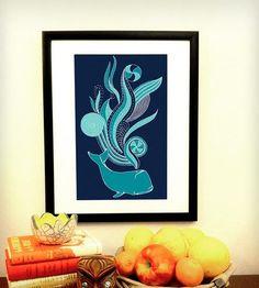 Whale Trip Poster | Art Prints | Ex-Boyfriend | Scoutmob Shoppe | Product Detail