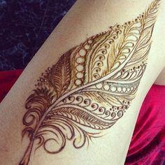 Feather Style Henna