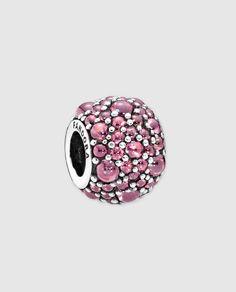 Charm en plata y circonita rosa Pandora